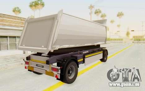 MAN TGA Energrom Edition Trailer v2 pour GTA San Andreas vue de droite
