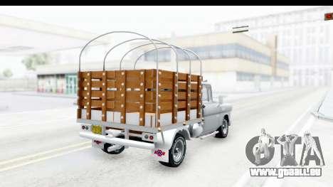 Chevrolet 3100 Diesel v1 pour GTA San Andreas laissé vue