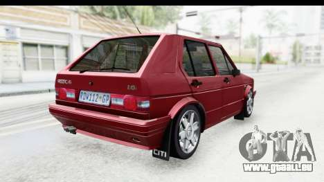 Volkswagen Golf VeloCiti 2008 Updated für GTA San Andreas linke Ansicht