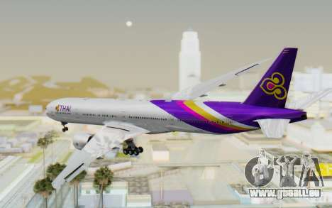 Boeing 777-300ER Thai International Airways für GTA San Andreas linke Ansicht