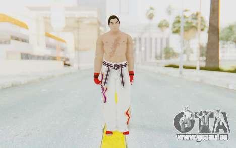 Kazuya Mishima Skin pour GTA San Andreas deuxième écran
