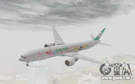Boeing 777-300ER Eva Air v1 pour GTA San Andreas sur la vue arrière gauche