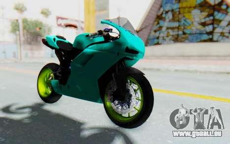Ducati 1098R Streetrace pour GTA San Andreas vue de droite