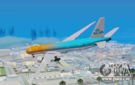Boeing 777-300ER KLM - Royal Dutch Airlines v4 pour GTA San Andreas laissé vue