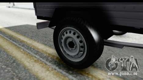 Volkswagen T4 Trailer pour GTA San Andreas vue arrière