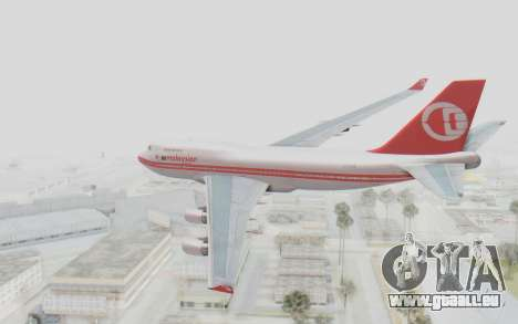 Boeing 747-200 Malaysia Airlines für GTA San Andreas linke Ansicht