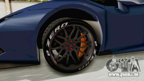 Lamborghini Huracan Stance Style für GTA San Andreas Rückansicht