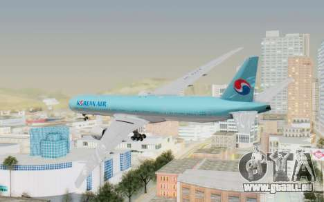 Boeing 777-300ER Korean Air für GTA San Andreas linke Ansicht