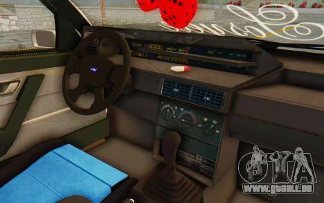 Fiat Tempra Special TR pour GTA San Andreas vue intérieure