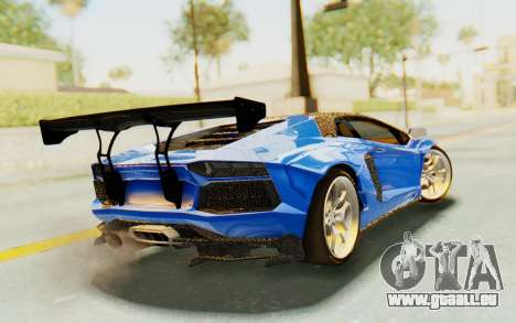 Lamborghini Aventador LP700-4 LB Walk Fenders für GTA San Andreas linke Ansicht