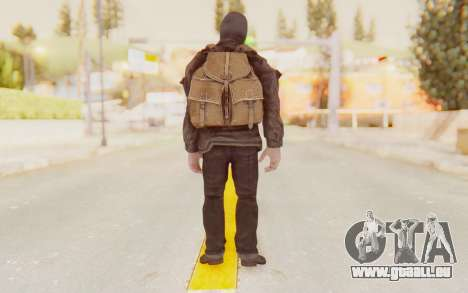COD BO Russian Soldier Balaclava für GTA San Andreas dritten Screenshot