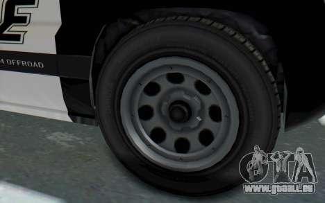 Canis Seminole Police Car pour GTA San Andreas vue arrière