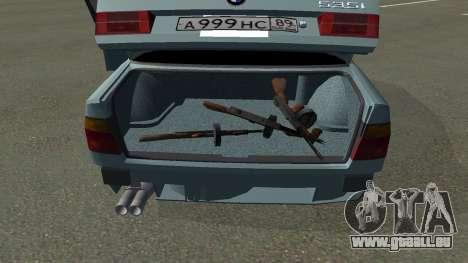 BMW 535i Gang pour GTA San Andreas sur la vue arrière gauche