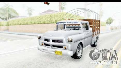 Chevrolet 3100 Diesel v1 pour GTA San Andreas vue de droite