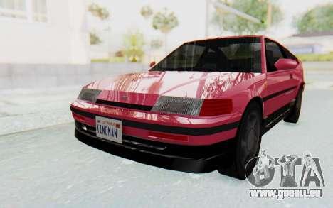 Dinka Blista Compact 1990 pour GTA San Andreas sur la vue arrière gauche