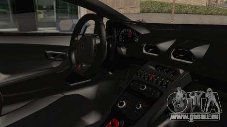 Lamborghini Huracan Stance Style pour GTA San Andreas vue intérieure