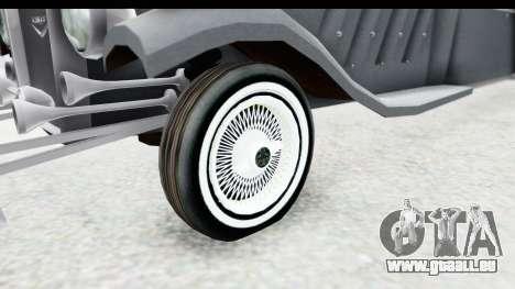 Unique V16 Sedan pour GTA San Andreas vue arrière