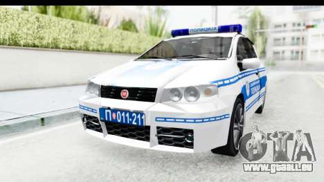Fiat Punto Mk2 Policija pour GTA San Andreas vue de droite