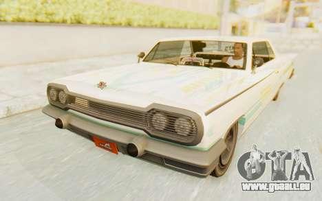 GTA 5 Declasse Voodoo Alternative v2 pour GTA San Andreas moteur