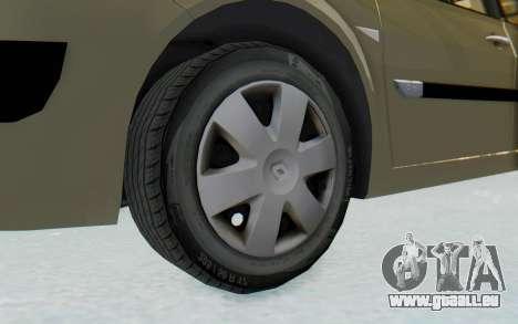 Renault Megane 2 pour GTA San Andreas vue arrière