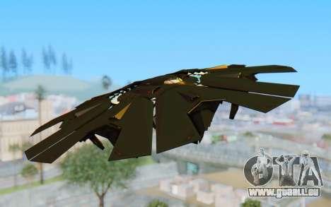 GTA 5 UFO B-2 Style für GTA San Andreas zurück linke Ansicht
