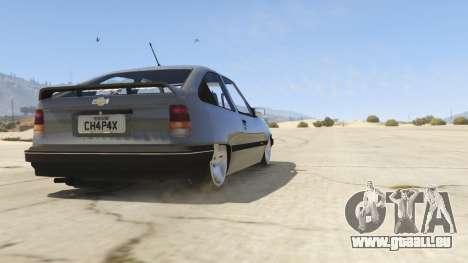 Chevrolet Kadett SL 2.0 Lowered für GTA 5