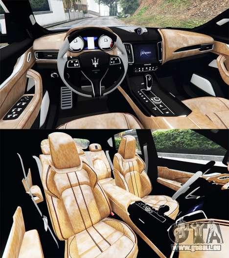 GTA 5 Maserati Levante 2017 [add-on] arrière droit vue de côté