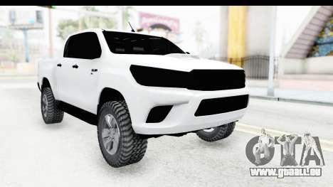 Toyota Hilux 2016 für GTA San Andreas
