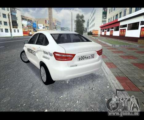 Lada Vesta VESTATEST für GTA San Andreas zurück linke Ansicht