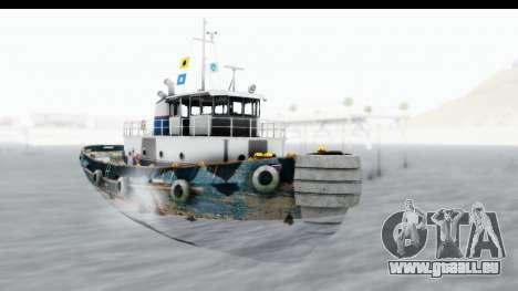 GTA 5 Buckingham Tug Boat v1 pour GTA San Andreas