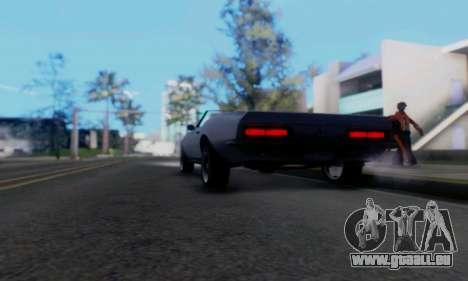 Chevrolet 369 Camaro SS für GTA San Andreas Rückansicht