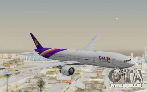Boeing 777-300ER Thai International Airways pour GTA San Andreas sur la vue arrière gauche