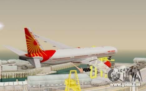 Boeing 777-300ER India Air für GTA San Andreas rechten Ansicht