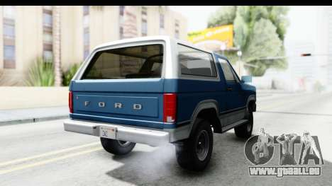 Ford Bronco 1980 pour GTA San Andreas vue de droite