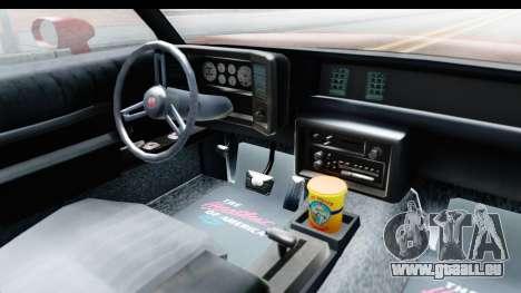 Chevrolet Monte Carlo Breaking Bad für GTA San Andreas Innenansicht