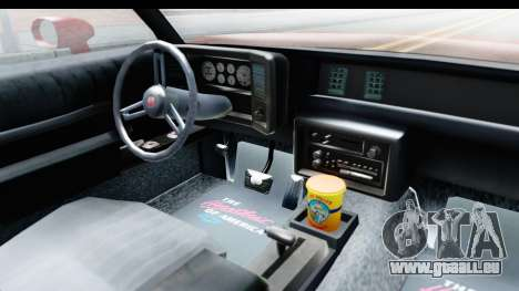 Chevrolet Monte Carlo Breaking Bad pour GTA San Andreas vue intérieure