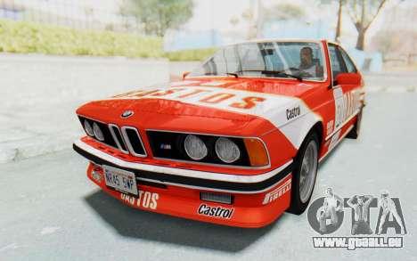 BMW M635 CSi (E24) 1984 HQLM PJ3 pour GTA San Andreas vue intérieure