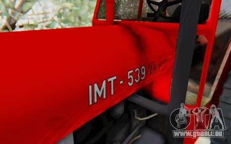 IMT 539 Deluxe pour GTA San Andreas vue arrière