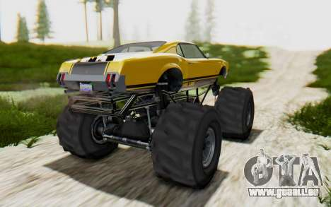 Declasse Sabre Turbo XL pour GTA San Andreas sur la vue arrière gauche