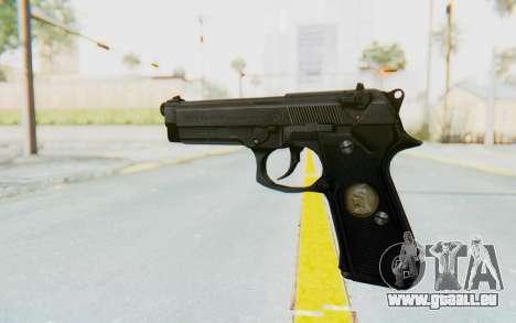 Tariq Iraqi Pistol Back v1 Black für GTA San Andreas zweiten Screenshot