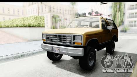 Ford Bronco 1980 Roof IVF für GTA San Andreas