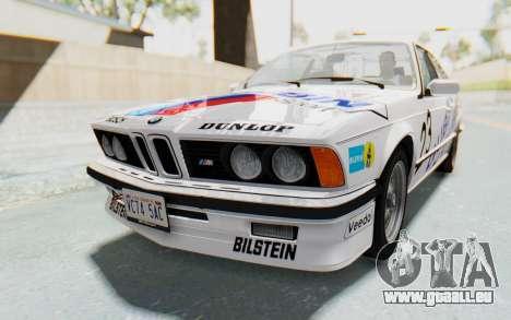 BMW M635 CSi (E24) 1984 HQLM PJ1 für GTA San Andreas Motor