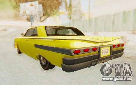 GTA 5 Declasse Voodoo pour GTA San Andreas sur la vue arrière gauche