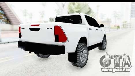 Toyota Hilux 2016 pour GTA San Andreas vue de droite