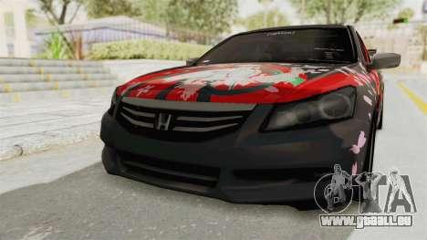 Honda Accord 2011 Hatsune Miku Senbonzakura pour GTA San Andreas