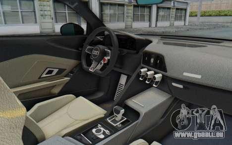 Audi R8 V10 Plus 2017 für GTA San Andreas Rückansicht