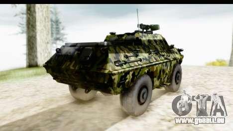 BOV 86M Camo pour GTA San Andreas sur la vue arrière gauche
