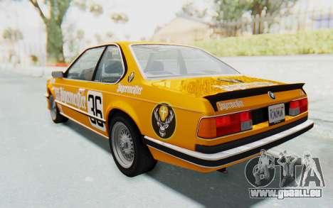 BMW M635 CSi (E24) 1984 HQLM PJ3 pour GTA San Andreas moteur