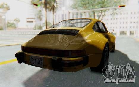 Porsche 911 Turbo 3.2 Coupe (930) 1985 für GTA San Andreas rechten Ansicht