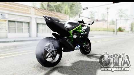 Kawasaki Ninja H2R Black pour GTA San Andreas sur la vue arrière gauche